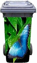 Mülltonnen-Aufkleber Motiv Schmetterling 37 cm x 82 cm für 240 l Tonne