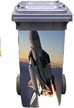 Mülltonnen-Aufkleber Motiv Shuttle 37 cm x 82 cm für 240 l Tonne