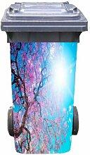 Mülltonnen-Aufkleber Motiv Sonnenbaum 37 cm x 82 cm für 240 l Tonne