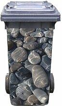 Mülltonnen-Aufkleber Motiv Steine 37 cm x 82 cm für 240 l Tonne