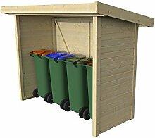 Mülltonnen-Box Holzunterstand