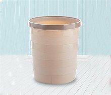 Mülltonnen Mülleimer Kreativ Keine Deckel Plastik Mülleimer Haushalt Wohnzimmer Küche WC Mülleimer Größe 19 5 * 27 * 24cm Khaki