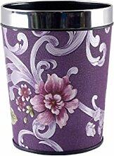 Mülltonnen Trash Dosen Toilette Wohnzimmer Küche Mülleimer Material Kunststoff Größe 17.5 * 25.5 * 20cm purple L