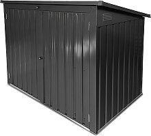 Mülltonnenbox 1,4m² Gartenbox 2 x 240L Metall