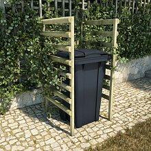 Mülltonnenbox 1 Tonne 70x80x150 cm Imprägniertes
