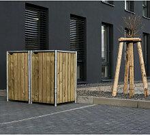 Mülltonnenbox 140l Holz natur 2er Box - Hide