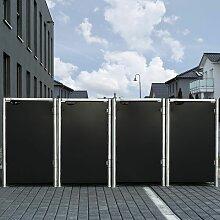 Mülltonnenbox 140l Kunststoff schwarz 4er Box -