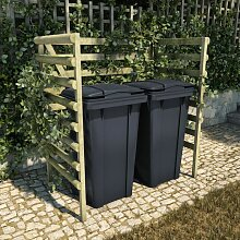 Mülltonnenbox 2 Tonnen 140x80x150 cm