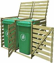 Mülltonnenbox 2 Tonnen Imprägniertes Holz 240 L