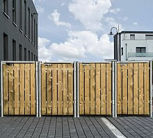 Mülltonnenbox 240l Holz natur 4er Box - Hide