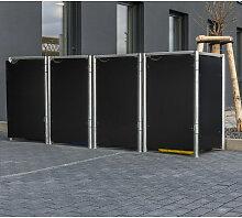 Mülltonnenbox 240l Kunststoff schwarz 4er Box -