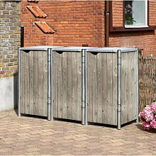 Mülltonnenbox aus Holz ClearAmbient