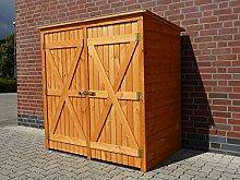 Mülltonnenbox BQ2 für 2 Tonnen in Holz, Farbe