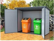 Mülltonnenbox doppelt DENEB - Kunstharz - Metall