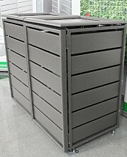 Mülltonnenbox Ecoplus aus Aluminium 240 ltr. Grau