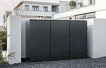 Mülltonnenbox Edelstahl Modell Pure - 240 Liter