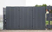 Mülltonnenbox Edelstahl Modell Style - 120 Liter