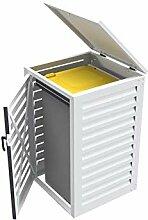 Mülltonnenbox einfach, 240 l, aus Aluminium, für