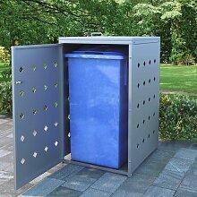 Mülltonnenbox für 1 Tonne 240 L Edelstahl 06510