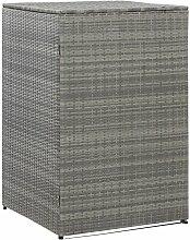 Mülltonnenbox für 1 Tonne Anthrazit 76x78x120 cm