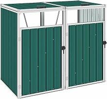 Mülltonnenbox für 2 Mülltonnen Grün