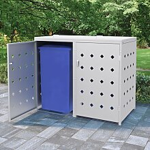 Mülltonnenbox für 2 Tonnen 240 L Edelstahl 35099