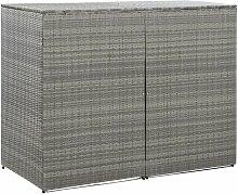 Mülltonnenbox für 2 Tonnen Anthrazit 153x78x120
