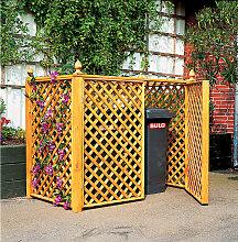 Mülltonnenbox für 2 Tonnen honigbraun