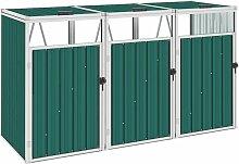 Mülltonnenbox für 3 Mülltonnen Grün