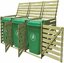 Mülltonnenbox für 3 Tonnen 240 L Imprägniertes