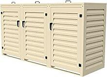 Mülltonnenbox für den Außenbereich, 3 x 240 l,