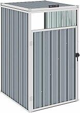 Mülltonnenbox Grau 72×81×121 cm Stahl