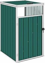 Mülltonnenbox Grün 72×81×121 cm Stahl