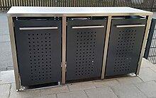 Mülltonnenbox in Anthrazit RAL 7016, aufgebaut