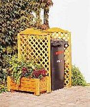 Mülltonnenspalier -Rex- 1/Stck  ,Länge:171cm ,Breite:79cm ,Höhe:127cm