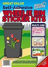 Mülltonnensticker, Mülltonnenaufkleber, Motiv: