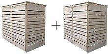Mülltonnenverkleidung Holz 120L - 240L Natur mit
