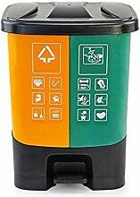 Mülltrennungssystem Mülleimer mit Pedal und