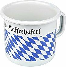 Münder Email Becher, 8cm zylindrisch,Kaffeehaferl