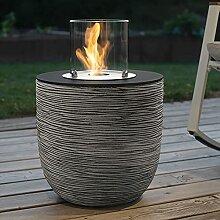 muenkel design Vigo – Riffelung schwarz-grau –