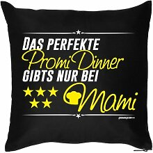 Mütter Geschenkidee - Kissenbezug - Mama mit Herz Danke sagen - 40 x 40 cm - in schwarz : )