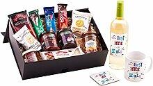 Mütter-Geschenkkorb, tolle Geschenkidee für die Mutter von Schottland, Inklusive premium Weißweinglas, ein Becher und Untersetzer, Ein einzigartiger und toller Geschenkkorb zu Weihnachten