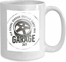 Mug Coffee Tea Cup Garage Old School Service