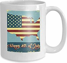 Mug Coffee Tea Cup Happy 4th July Independence Day