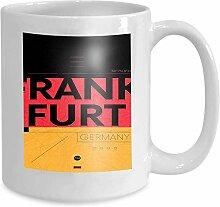 Mug Coffee Tea Cup Typography Color Poster map
