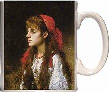 Mug Harlamoff Alexej A Russian Beauty Ceramic Cup