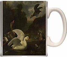 Mug Johannes Spruyt Geese and Ducks Ceramic Cup
