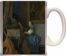 Mug Johannes Vermeer A Young Woman seated at a