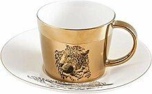 Mug Spiegelreflexion Kaffeetasse Kreativer Leopard
