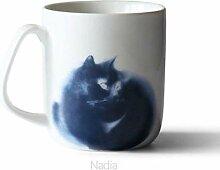 Mug Tasse Becher Kaffee Kaffeetasse Katze Gedruckt